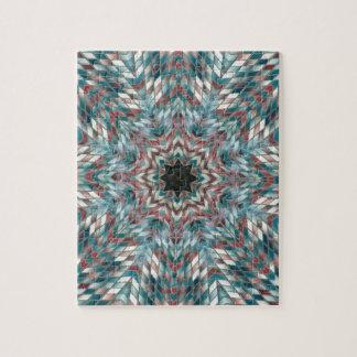 Blue kaleidoscope puzzle