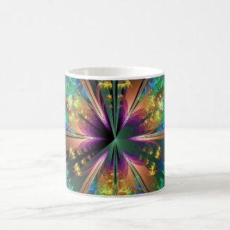 Blue Kaleidoscopic Sun-Burst Coffee Mug