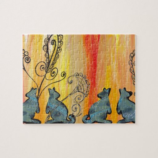 Blue Kangaroos Puzzles