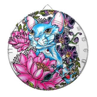 blue kat tattoo dartboards