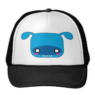 Blue Kawaii Monster Trucker Hat