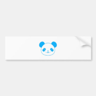 Blue Kawaii Panda Bear Bumper Sticker