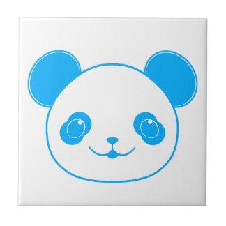 Blue Kawaii Panda Bear Ceramic Tile