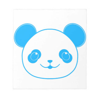 Blue Kawaii Panda Bear Notepad