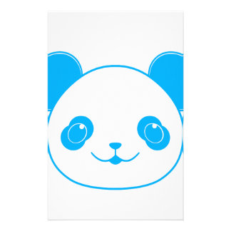 Blue Kawaii Panda Bear Stationery