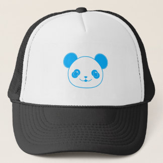 Blue Kawaii Panda Bear Trucker Hat