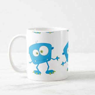 Blue Kids Monster Alien Mugs