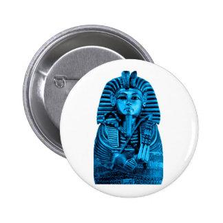 Blue King Tut Pinback Buttons