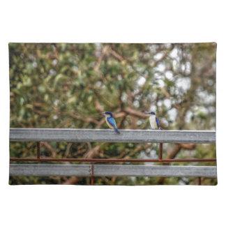 BLUE KINGFISHER QUEENSLAND AUSTRALIA ART EFFECTS PLACEMAT