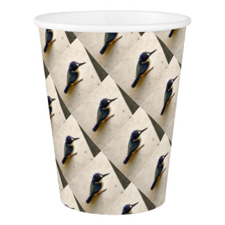 BLUE KINGFISHER QUEENSLAND AUSTRALIA PAPER CUP