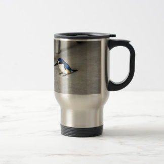 BLUE KINGFISHER QUEENSLAND AUSTRALIA TRAVEL MUG