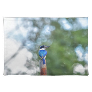BLUE KINGFISHER RURAL QUEENSLAND AUSTRALIA PLACEMAT
