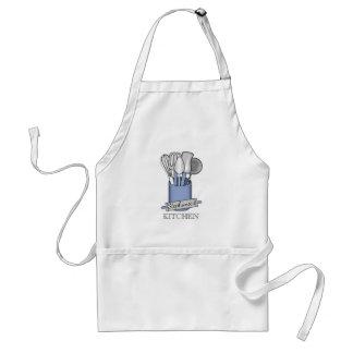 Blue Kitchen Utensil Caddy | Rolling Pin Monogram Standard Apron