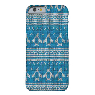 Blue Knitted Background Barely There iPhone 6 Case
