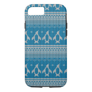 Blue Knitted Background iPhone 7 Case
