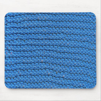 blue knitting mouse mat