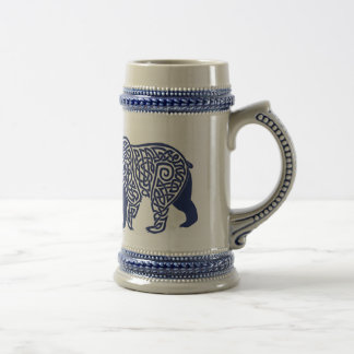 Blue Knotwork Bear Stein
