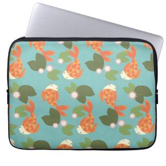 Blue Koi Pond Laptop Sleeve