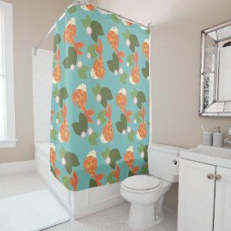 Blue Koi Pond Shower Curtain
