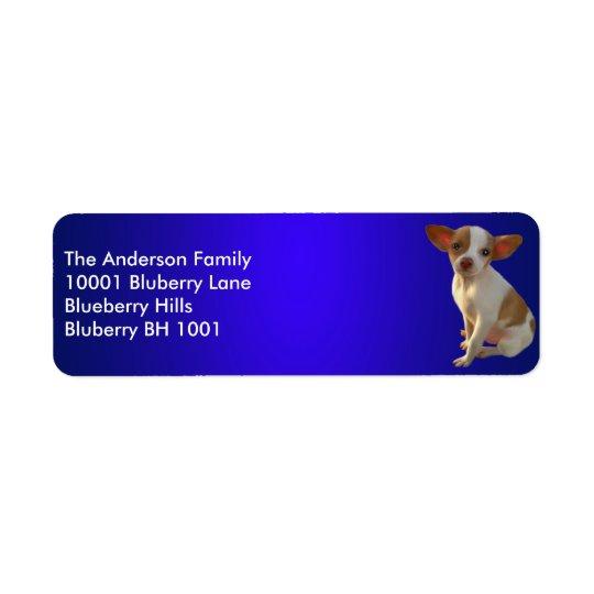 Blue Label Return Address Chihuahua