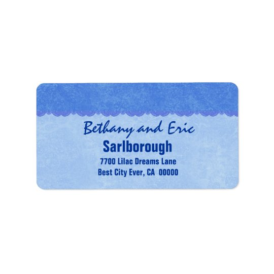 Blue Lace  A301 Address Label