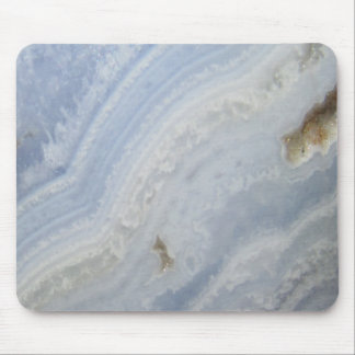 Blue Lace Agate Swirl cool nature stone Mouse Pad