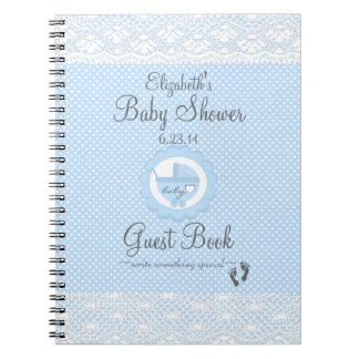 Blue Lace-Baby Shower Guest Book