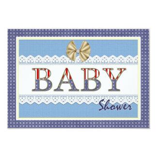 Blue Lace Baby Shower Registry Card 9 Cm X 13 Cm Invitation Card