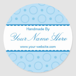 Blue Lace Handmade By Personalised Stickers