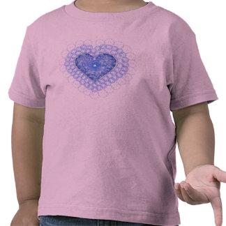 Blue Lace Heart Girls Shirt
