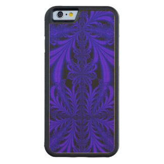 Blue Lace look Floral Fractal Maple iPhone 6 Bumper