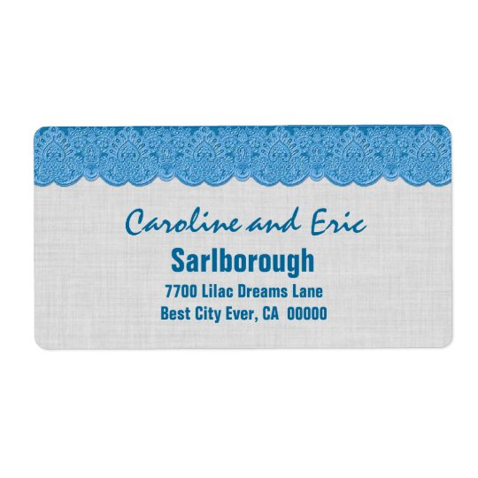 Blue Lace with SILVER Linen Texture A301Q