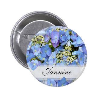 Blue Lacecap Hydrangeas Pin