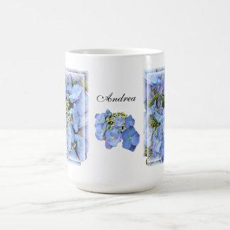 Blue Lacecap Hydrangeas Coffee Mug