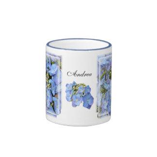 Blue Lacecap Hydrangeas Coffee Mugs