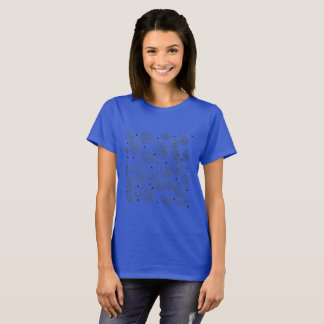 Blue ladies t-shirt edition with Black circles