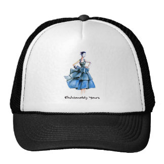 Blue Lady2 Cap