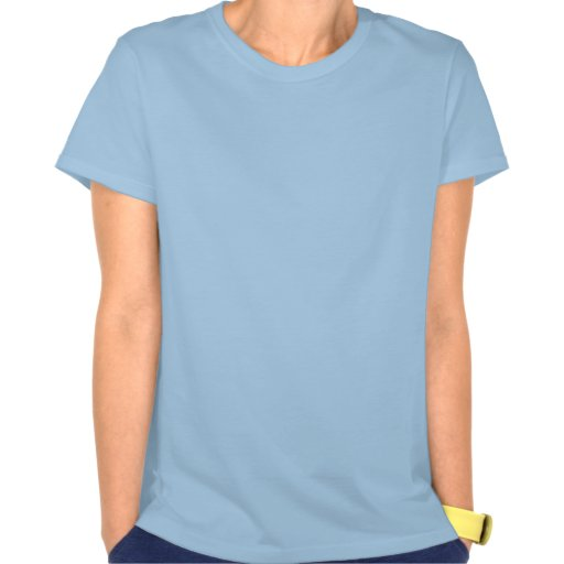 Blue Lady's shirt with Jesus picture