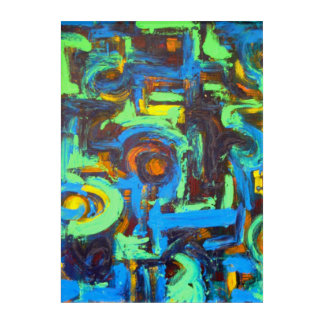 Blue Lagoon-Abstract Art Brushstrokes