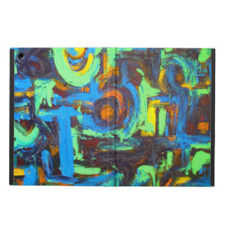 Blue Lagoon-Abstract Art Hand Painted Brushstrokes iPad Air Cases