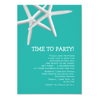 "Blue Lagoon Fun Rehearsal Dinner Invite 4.5"" X 6.25"" Invitation Card"
