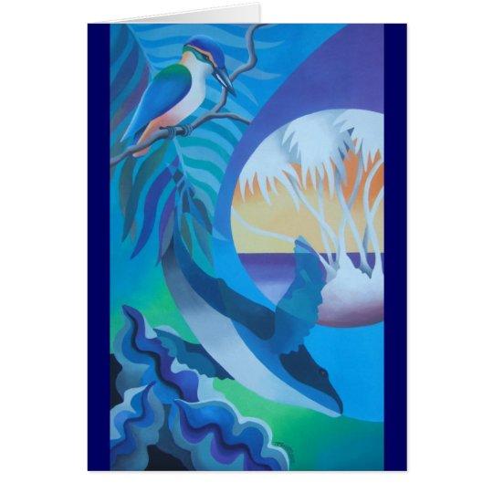 """BLUE LAGOON I"" CARD"