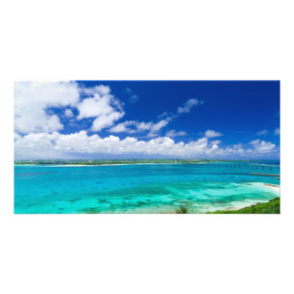 Blue Lagoon in Miyako Island Okiawa Customised Photo Card