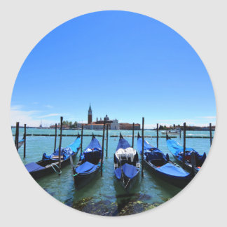 Blue lagoon in Venice, Italy Classic Round Sticker
