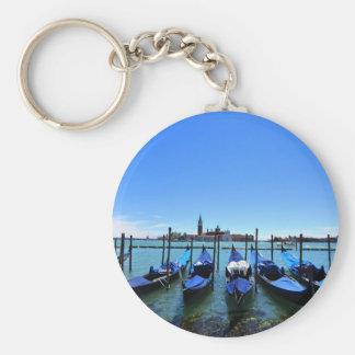 Blue lagoon in Venice, Italy Key Ring