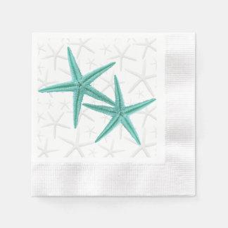Blue Lagoon Starfish Couple Paper Napkins Disposable Napkin