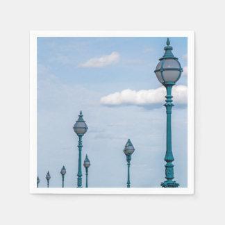 Blue lampposts disposable napkin