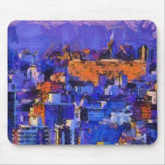 Blue landscape mousepads