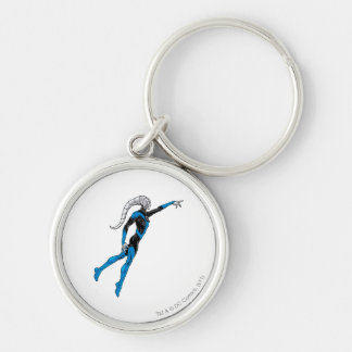 Blue Lantern 10 Silver-Colored Round Key Ring