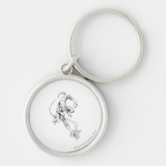 Blue Lantern 9 Silver-Colored Round Key Ring